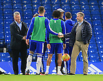 Chelsea's Roman Abramovich and Guus Hiddink speak to the players<br /> <br /> Barclays Premier League- Chelsea vs Sunderland - Stamford Bridge - England - 19th December 2015 - Picture David Klein/Sportimage