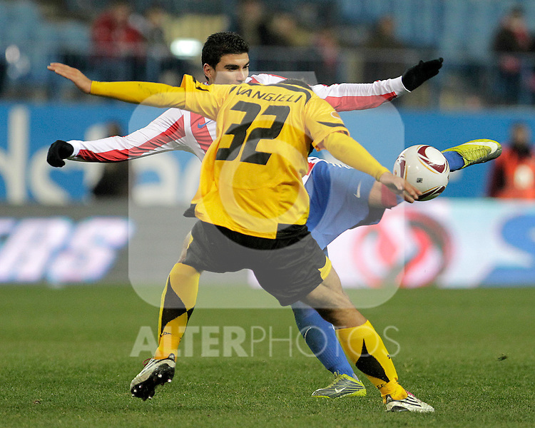Atletico de Madrid's Jose Antonio Reyes during UEFA Europe League match.December,1,2010. (ALTERPHOTOS/Acero)