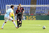 September 10th 2017, Olimpic Stadium, Rome, Italy; Serie A football league, Lazio versus AC Milan;   Lucas Biglia plays the ball inside Parolo