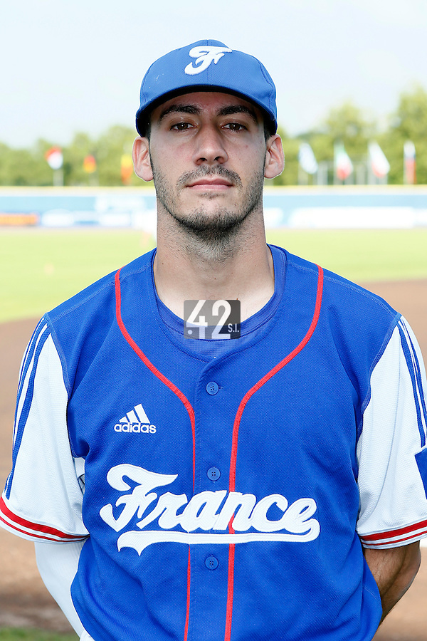 08 September 2012: Matthieu Brelle-Andrade poses at the 2012 European Championship, in Rotterdam, Netherlands.