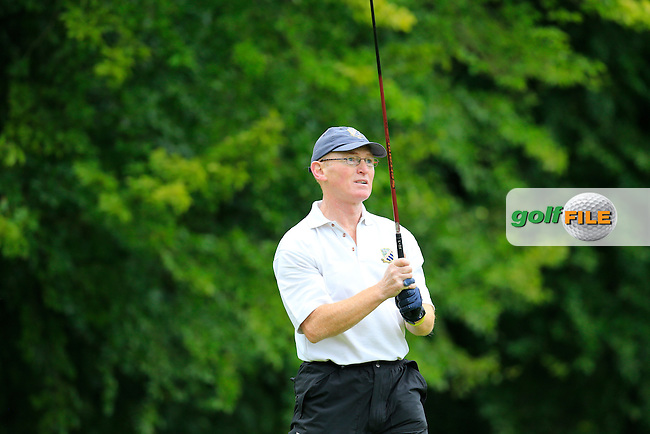 Mick Murray (Malahide) during the semi final of the Pierce Purcell Shield 2015 Leinster branch Sponsored by AIG, Portarlington Golf Club, Portarlington, Co Laois.  26/07/2015.<br /> Picture: Golffile | Fran Caffrey<br /> <br /> <br /> All photo usage must carry mandatory copyright credit (&copy; Golffile | Fran Caffrey)