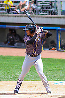 Quad Cities River Bandits third baseman Wander Franco (4) at bat during a Midwest League game against the Beloit Snappers on June 18, 2017 at Pohlman Field in Beloit, Wisconsin.  Quad Cities defeated Beloit 5-3. (Brad Krause/Four Seam Images)