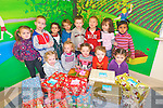 Children at Ballyspillane Childcare Centre have donated generously this year to the Team Hope Christmas Shoebox Appeal to help children less fortunate than themselves. .Front L-R Michaela Dooley, Patricia Dooley, Amber Coffey, Michaela Dooley, and Selana Dooley. .Back L-R Lakisha O'Brien, James Dooley, Sophia Sharma, Sean Michael Hatton, Mark O'Brien, Stephen Slabys, Eleisa Begtullahu and Attya Tul Mauk.