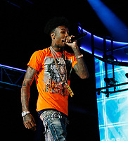 LOS ANGELES, CALIFORNIA - JUNE 21: Blueface performs onstage at the 2019 BET Experience STAPLES Center Concert at Staples Center on June 21, 2019 in Los Angeles, California. Photo: CraSH for imageSPACE /MediaPunch