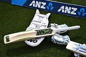 9th December 2017, Seddon Park, Hamilton, New Zealand; International Test Cricket, 2nd Test, Day 1, New Zealand versus West Indies;  Cricket bat and gloves