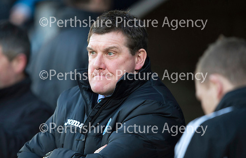 St Johnstone v Livingston.....30.11.13     Scottish Cup 4th Round<br /> Saints boss Tommy Wright<br /> Picture by Graeme Hart.<br /> Copyright Perthshire Picture Agency<br /> Tel: 01738 623350  Mobile: 07990 594431