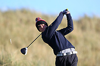 Joshua McCabe (Roganstown) on the 11th tee during Round 3 of the Ulster Boys Championship at Royal Portrush Golf Club, Valley Links, Portrush, Co. Antrim on Thursday 1st Nov 2018.<br /> Picture:  Thos Caffrey / www.golffile.ie<br /> <br /> All photo usage must carry mandatory copyright credit (&copy; Golffile | Thos Caffrey)
