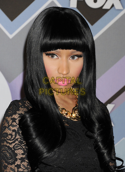 Nicki  Minaj .arriving at the 2013 TCA Winter Press Tour - FOX All-Star Party at The Langham Huntington Hotel and Spa in Pasadena, California, USA, .January 8th, 2013.   .portrait headshot pink lipstick make-up beauty blusher black hair wig lace dress gold necklace eyelashes .CAP/ROT/TM.©Tony Michaels/Roth Stock/Capital Pictures