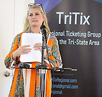 Bonnie Comley (BroadwayHD) during the 2019 TRITIX Forum at Arts West Building on September 19, 2019 in New York City.