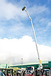 The crane fully extended to 163 feet at the Heights demonstration for the KETB Wind Turbine Course at the ETB Training Centre on Tuesday.