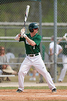 Babson Beavers second baseman Connor Gill (7) during a game against the Edgewood Eagles on March 18, 2019 at Lee County Player Development Complex in Fort Myers, Florida.  Babson defeated Edgewood 23-7.  (Mike Janes/Four Seam Images)