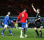 Kris Boyd yellow carded for simulation