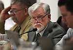 Nevada Assemblyman Joe Hogan, D-Las Vegas, works in committee on Tuesday, May 3, 2011, at the Legislature in Carson City, Nev. .Photo by Cathleen Allison