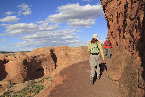The hiking trail to Delicate Arch, Arches National Park, Utah. <br /> Outside Imagery offers Arches National Park photo tours.  Year-round Utah photo tours.