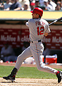 Steve Finley, of the Los Angeles Angels, during their game against the Oakland A's on April 16, 2005...A's win 1-0..Rob Holt / SportPics.