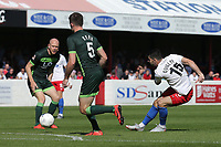 Joan Luque of Dagenham and Redbridge with a shot during Dagenham & Redbridge vs Hartlepool United, Vanarama National League Football at the Chigwell Construction Stadium on 14th September 2019