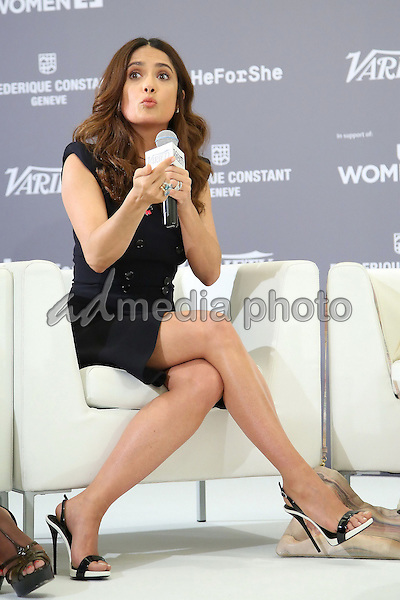 16 May 2015 - Cannes, France - Salma Hayek. Variety Celebration of UN Women held at the Radisson Blu Hotel during the 68th Annual Cannes Film Festival. Photo Credit: Andre Mischke/face to face/AdMedia