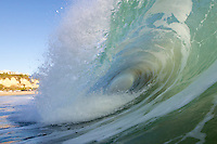 A wave breaking on a strong south swell, Zuma Beach, California