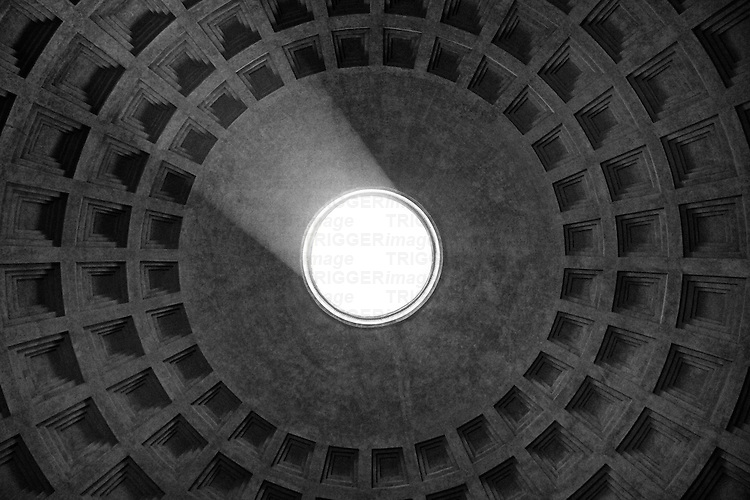 The Pantheon dome in Rome