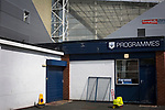 Preston North End 1 Reading 0, 19/08/2017. Deepdale, Championship. A programme kiosk outside the ground before Preston North End take on Reading in an EFL Championship match at Deepdale. The home team won the match 1-0, Jordan Hughill scoring the only goal after 22nd minutes, watched by a crowd of 11,174. Photo by Colin McPherson.