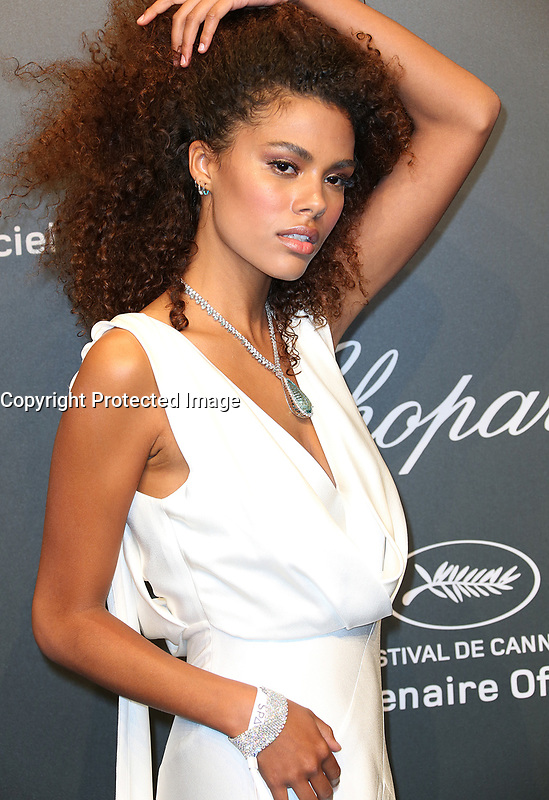TINA KUNAKEY<br /> Chopard Space Party Photocall The 70th Cannes Film Festival<br /> CANNES FRANCE MAY 19 attends the Chopard SPACE Party hosted by Chopard s co president Caroline Scheufele and Rihanna at Port Canto on May 19 2017 in Cannes France
