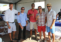 Spencer Koral, Brett Loving, Marco Nunez, Jordan Lowenstein and Eduardo Ramos attend The Hampton Classic 2014 on Aug. 27, 2014 (Photo by Taylor Donohue / Guest of a Guest)