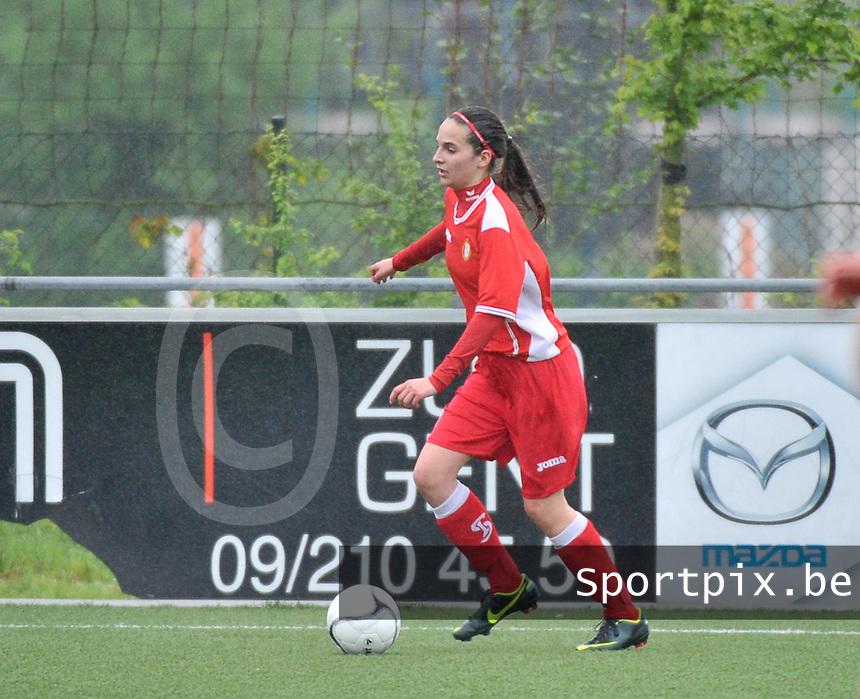 Lierse U16 - Standard de Liege U16 : Annie Triffaux.foto DAVID CATRY / Nikonpro.be