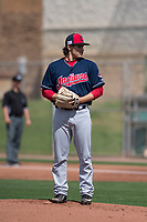 Cleveland Indians relief pitcher Elijah Morgan (41) during a Minor League Spring Training game against the San Francisco Giants at the San Francisco Giants Training Complex on March 14, 2018 in Scottsdale, Arizona. (Zachary Lucy/Four Seam Images)