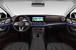 Stock photo of straight dashboard view of a 2019 Mercedes Benz CLS Coupe AMG line 4 Door Sedan