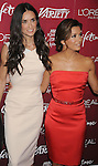 BEVERLY HILLS, CA - SEPTEMBER 23: Eva Longoria, Demi Moore arrive at the 3rd Annual Variety's Power of Women Event presented by Lifetime at the Beverly Wilshire Four Seasons Hotel September 23, 2011 in Beverly Hills, United States.