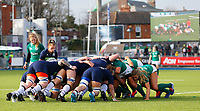 2nd February 2020; Energia Park, Dublin, Leinster, Ireland; International Womens Rugby, Six Nations, Ireland versus Scotland; Mairi McDonald of Scotland gets ready to put the ball into the scrum