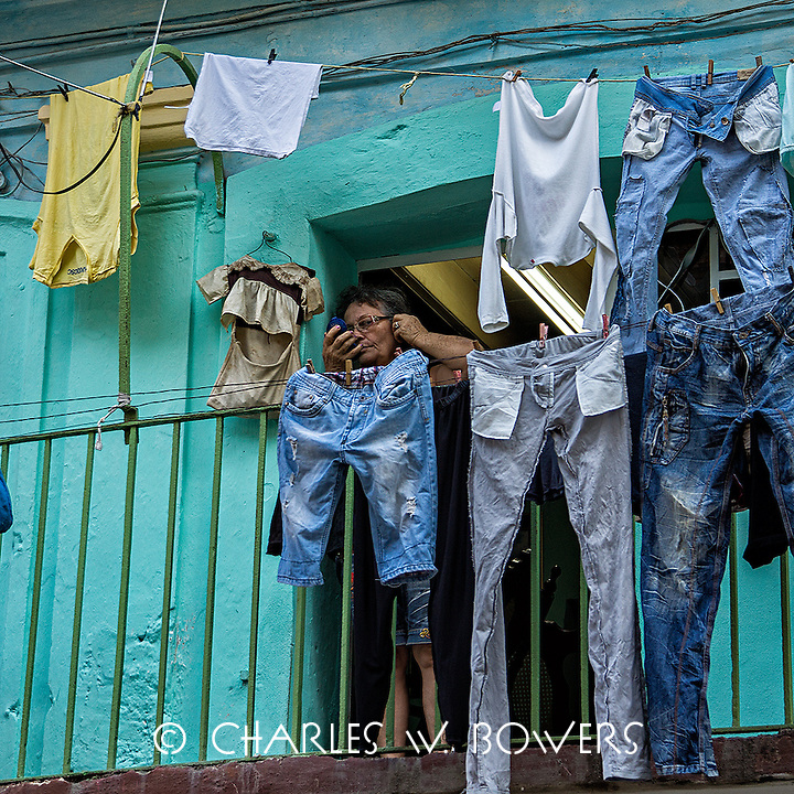 Faces Of Cuba - I need some light to put on my makeup.<br /> <br /> -Limited Edition of 50 prints.