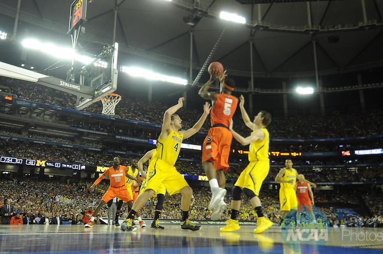 06 APR 2013: Semifinals during the 2013 NCAA Men's DI Basketball Championship Final Four held at the Georgia Dome in Atlanta, GA. Rich Clarkson/NCAA Photos