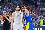 Sergio Llull during Real Madrid vs Maccabi Fox of Day 2 of Euroleague Basketball. October 10, 2019. (ALTERPHOTOS/Francis Gonzalez)