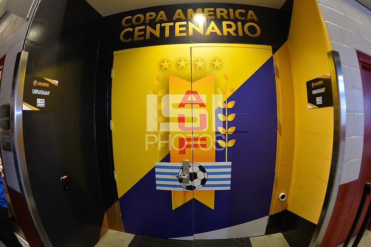 Santa Clara, CA - Monday June 13, 2016: Uruguay Locker Room during a Copa America Centenario Group C match between Uruguay (URU) and Jamaica (JAM) at Levi's Stadium.