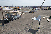 Roof Replacement and Mechanical Upgrades Stratford School For Aviation Maintenance Technicians.  Project No: BI-RT-860<br /> Contractor: Silktown Roofing, Manchester CT.<br /> James R Anderson Photography   New Haven CT   photog.com<br /> Date of Photograph: 13 April 2014<br /> Camera View: South-southeast, Roof C  Image No. 16