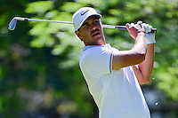Brooks Koepka (USA) watches his tee shot on 7 during round 2 of the World Golf Championships, Mexico, Club De Golf Chapultepec, Mexico City, Mexico. 3/3/2017.<br /> Picture: Golffile | Ken Murray<br /> <br /> <br /> All photo usage must carry mandatory copyright credit (&copy; Golffile | Ken Murray)