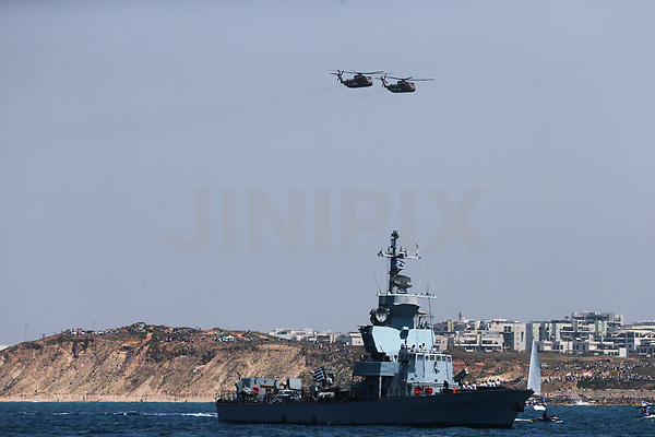 Israeli navy ships along the shores of Israel as part of celebration of Israels' Independance Day,Thursday April 19 2018. Photo by: Nimrod Glikman-JINIPIX