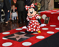 Minnie Mouse at the Hollywood Walk of Fame Star Ceremony honoring Disney character Minnie Mouse, Los Angeles, USA 22 Jan. 2018<br /> Picture: Paul Smith/Featureflash/SilverHub 0208 004 5359 sales@silverhubmedia.com