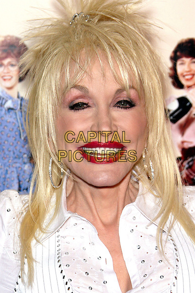 "DOLLY PARTON.""9 to 5"" Special Edition DVD Release Party held at the Annex, Hollywood, California , USA.March 30th, 2006.Photo: Zach Lipp/AdMedia/Capital Pictures.Ref: ZL/ADM.headshot portrait red lipstick.www.capitalpictures.com.sales@capitalpictures.com.© Capital Pictures."