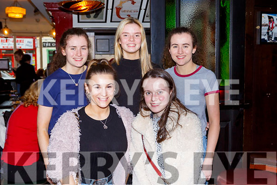 Tara Murphy, Sarah Leahy, Eve Crowley, Ellen Corridan and Isabel Murphy at the Rebecca Murphy coffee morning to raise funds for India in Murphy's bar on Saturday