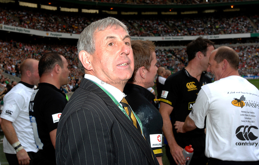 Photo: Richard Lane..London Wasps v Leicester Tigers. Heineken Cup Final. 20/05/2007..Ian McGeechan of Wasps.