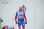 HOLMENKOLLEN, OSLO, NORWAY - March 16: Dmitriy Japarov of Russia (RUS) after the Men 50 km mass start, free technique, at the FIS Cross Country World Cup on March 16, 2013 in Oslo, Norway. (Photo by Dirk Markgraf)