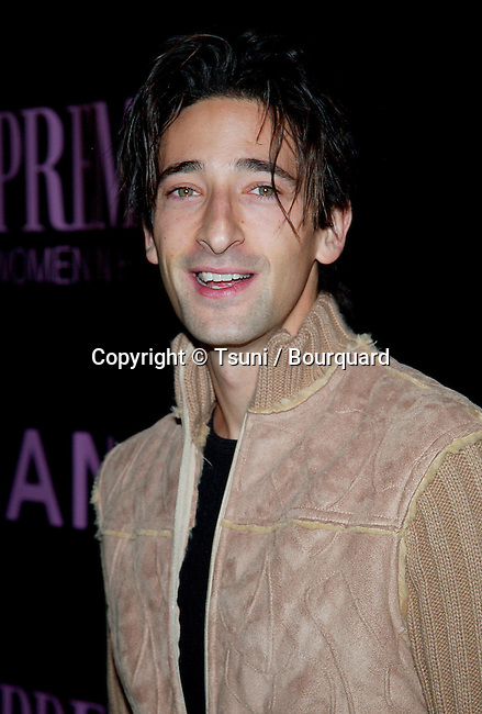 Adrien Brody arriving at the 9th Annual Premiere Women in Hollywood Luncheon at the Four Seasons Hotel in Los Angeles. October 16, 2002.