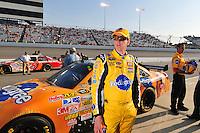May 2, 2008; Richmond, VA, USA; NASCAR Sprint Cup Series driver Kyle Busch during qualifying for the Dan Lowry 400 at the Richmond International Raceway. Mandatory Credit: Mark J. Rebilas-US PRESSWIRE