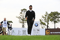 Matthew Baldwin (ENG) walks off the 14th tee during Sunday's Final Round of the 2014 BMW Masters held at Lake Malaren, Shanghai, China. 2nd November 2014.<br /> Picture: Eoin Clarke www.golffile.ie