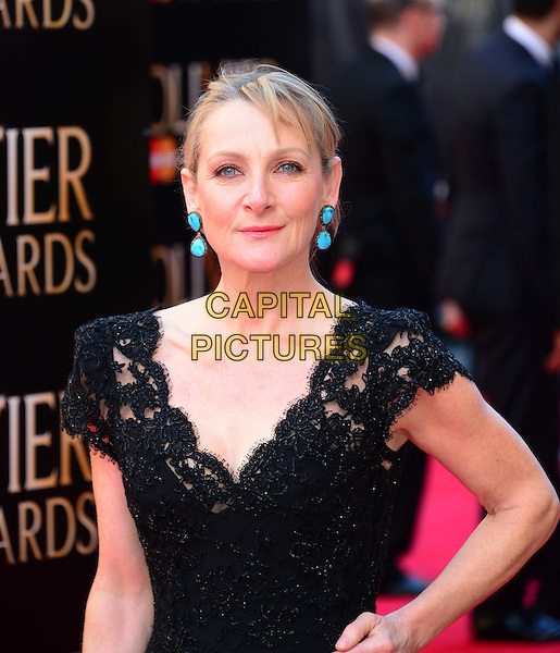 LONDON, ENGLAND - APRIL 13:  Lesley Sharp attends The Olivier Awards, the illustrious ceremony celebrating the very best in English theatre, at Royal Opera House, Covent Garden, on April 13, 2014, in London, England.<br /> CAP/JOR<br /> &copy;Nils Jorgensen/Capital Pictures
