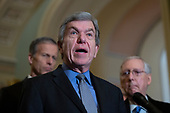 United States Senator Roy Blunt (Republican of Missouri) speaks to members of the media following a bipartisan luncheon honoring retiring United States Senator Johnny Isakson (Republican of Georgia) at the U.S. Capitol in Washington D.C., U.S., on Tuesday, December 3, 2019.<br /> <br /> Credit: Stefani Reynolds / CNP