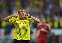 Fussball Bundesliga Saison 2011/2012 1. Spieltag Borussia Dortmund - Hamburger SV Kevin GROSSKREUTZ (BVB) jubelt ueber das 1:0 und das erste Tor der Bundesligasaison 2011/2012.