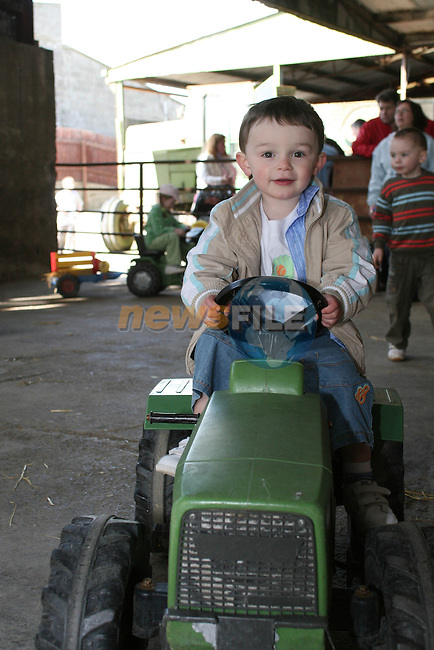 Josh O'Reilly driving a tractor at Newgrange Farm...Photo NEWSFILE/Jenny Matthews.(Photo credit should read Jenny Matthews/NEWSFILE)....This Picture has been sent you under the condtions enclosed by:.Newsfile Ltd..The Studio,.Millmount Abbey,.Drogheda,.Co Meath..Ireland..Tel: +353(0)41-9871240.Fax: +353(0)41-9871260.GSM: +353(0)86-2500958.email: pictures@newsfile.ie.www.newsfile.ie.FTP: 193.120.102.198.